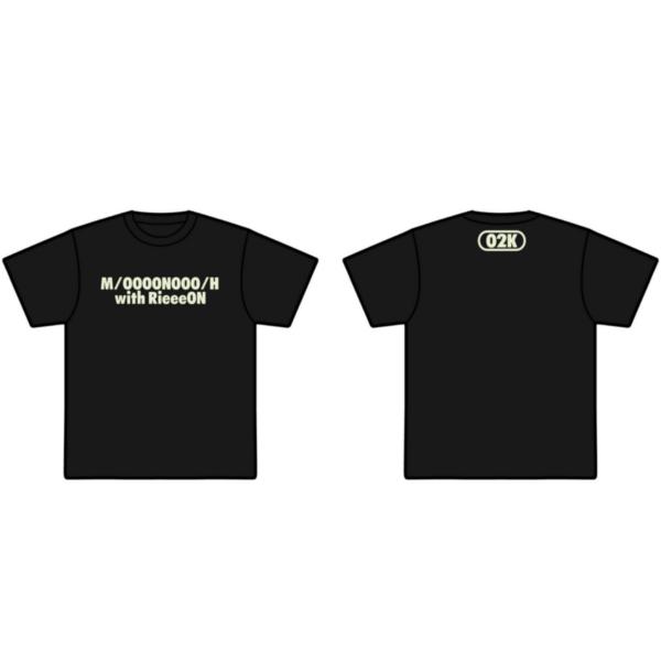 大野姉妹with清原梨央(仮)Tシャツ(スタンダード)黒